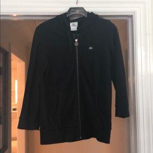 Lacoste black hoodie sweatshirt - size 42